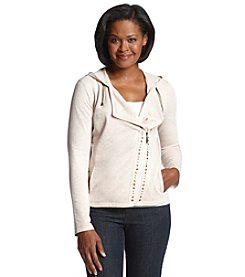 Laura Ashley® Petites' French Terry Moto Jacket