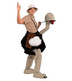 Ride-On Ostrich Mascot Adult Costume