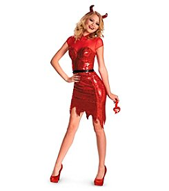 Glam Sequin Devil Deluxe Adult Costume