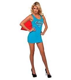 DC Comics® Supergirl Tank Dress Rhinestone Logo Adult Costume