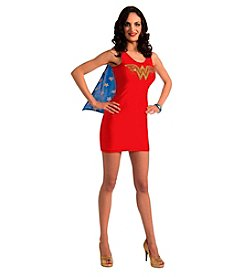 DC Comics® Wonder Woman Tank Dress Rhinestone Logo Adult Costume