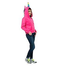 Pink Unicorn Hoodie Adult Costume