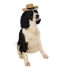 Brown Cowboy Dog Hat
