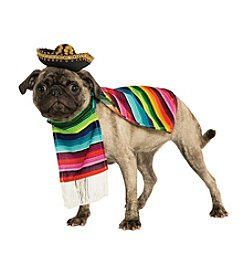 Poncho and Sombrero Mexican Dog Costume