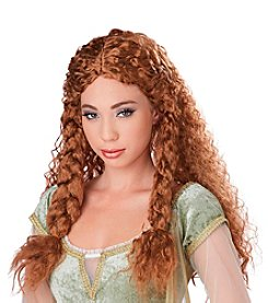 Warrior Princess Brunette Wig