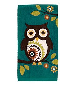 Ritz™ Medallion Owl Teal Kitchen Towel