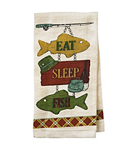 "Ritz™ ""Eat, Sleep, Fish"" Kitchen Towel"