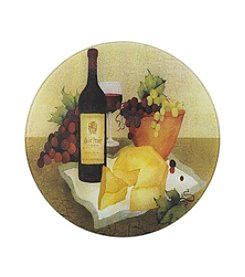 LivingQuarters Wine & Cheese Round Counter Saver