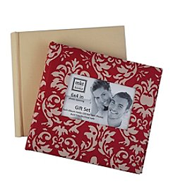MKT@Home 6x4'' Red Damask and Cream 2-pk. Photo Albums