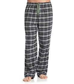John Bartlett Statements Men's Grey/Green Plaid Flannel Sleep Pants