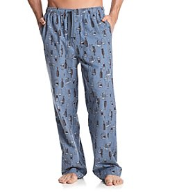 John Bartlett Statements Men's Blue Beer Print Flannel Sleep Pants