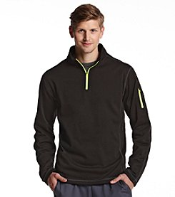 Exertek® Men's Midnight Black Active Long Sleeve Quarter-Zip Pullover Fleece