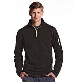 Exertek® Men's Midnight Black Active Long Sleeve Quarter-Zip Pullover Fleece