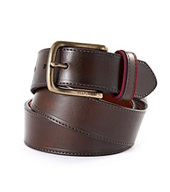 Tommy Hilfiger® Men's Brown Ribbon Loop Leather Belt