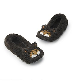 Fuzzy Babba® Furry Brown Critter Hedgehog Slippers