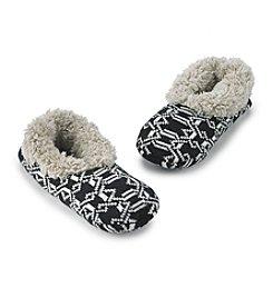 Fuzzy Babba® with Lattice Print Teddy Fur Slippers