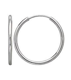 18mm Endless Hoop Earrings in 14K White Gold