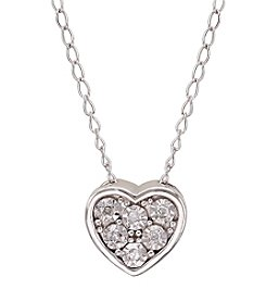 0.02 ct. t.w. Diamond Heart Pendant Necklace in Sterling Silver