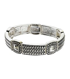Napier® Antiqued Silvertone Stretch Bracelet