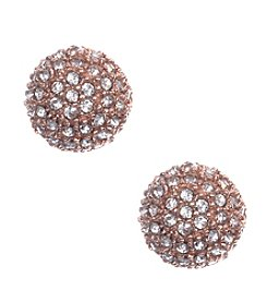Anne Klein® Rose Goldtone Fireball Stud Earrings