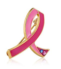 Estee Lauder Pink Ribbon Jeweled Pin