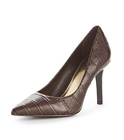 "Lauren Ralph Lauren ""Sarina"" Embossed Pumps"