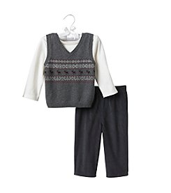 Cuddle Bear® Baby Boys' Sweater Vest Set