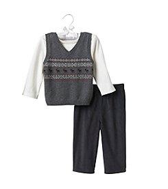 Cuddle Bear® Baby Boys' Sweater Vest Set