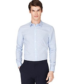 Calvin Klein Men's Blue Long Sleeve Check Shirt
