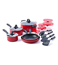 Basic Essentials 17-pc. Red Aluminum Kitchen Starter Set