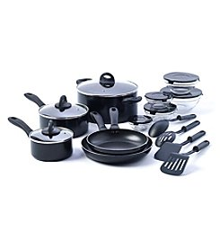 Basic Essentials 17-pc. Black Aluminum Kitchen Starter Set