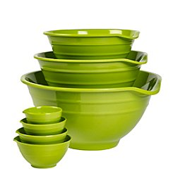 Basic Essentials 7-pc. Green Melamine Bowl Set