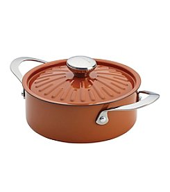 Rachael Ray® Cucina Oven-To-Table 2.5-qt. Pumpkin Orange Hard Enamel Nonstick Covered Round Casserole