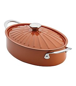 Rachael Ray® Cucina 5-qt. Pumpkin Orange Oven-To-Table Hard Enamel Nonstick Covered Oval Sauteuse