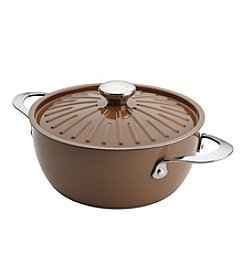 Rachael Ray® Cucina Oven-To-Table 4.5-qt. Mushroom Brown Hard Enamel Nonstick Covered Round Casserole