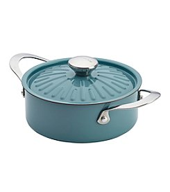 Rachael Ray® Cucina Oven-To-Table 2.5-qt. Agave Blue Hard Enamel Nonstick Covered Round Casserole
