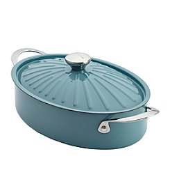 Rachael Ray® Cucina 5-qt. Agave Blue Oven-To-Table Hard Enamel Nonstick Covered Oval Sauteuse