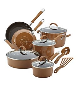 Rachael Ray® Cucina 12-pc. Mushroom Hard Enamel Nonstick Cookware Set