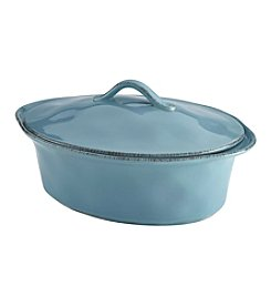 Rachael Ray® Cucina Stoneware 3.5-qt. Agave Blue Oval Casserole