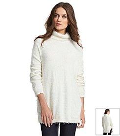 KIIND OF Catkin Cowlneck Tunic Sweater