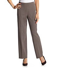 Briggs New York® Solid Flat Front Pull-On Pant