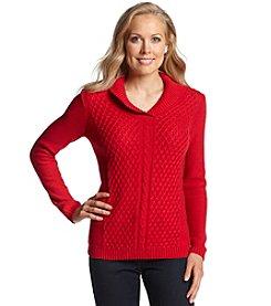 Studio Works® Shawl Collar Lurex Sweater