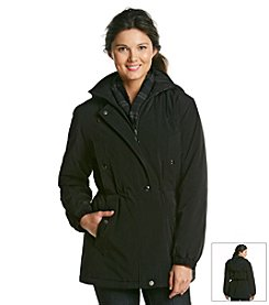 Gallery® Faux Silk Polyfill Anorak Jacket