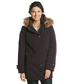 Gallery® Zip-Front Casual Jacket With Faux Fur Trim