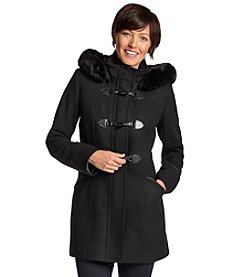Forecaster Toggle Wool Jacket With Faux Fur Trim