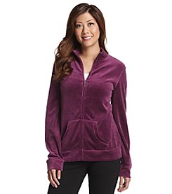 Exertek® Petites' Velour Zip Front Jacket