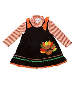 Rare Editions® Baby Girls' Turkey Jumper Set
