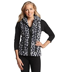 Laura Ashley® Animal Quilted Puffer Vest