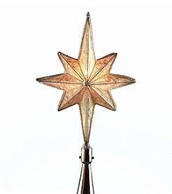 Kurt Adler 1-Light C7 Gold Metal Star Treetop