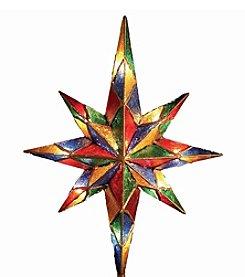 Kurt Adler 10-Light Mosaic Bethlehem Star Treetop